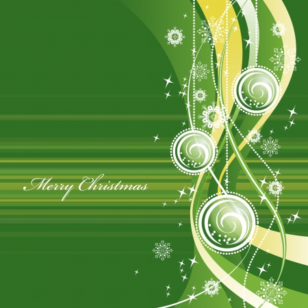 green swirl: Christmas Background