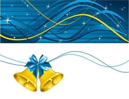 campanas: Antecedentes de Navidad ilustración vectorial Vectores
