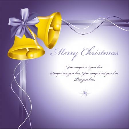 purple ribbon: Christmas Background  Vector Illustration  Illustration