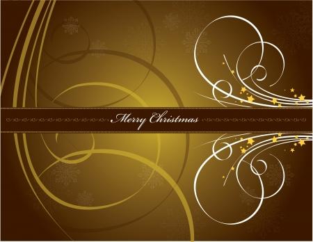 brown: Christmas Background  Vector Illustration  Illustration