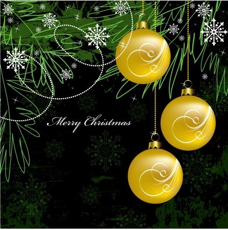 christmas postcard: Christmas Background  Vector Illustration  Illustration