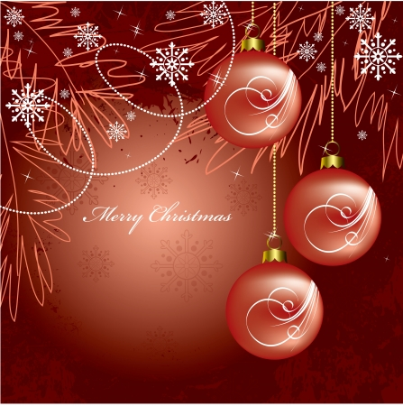 Christmas Background  Vector Illustration  Ilustracja