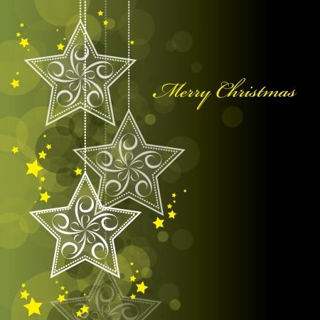 gold star: Christmas Background  Vector Illustration  Illustration