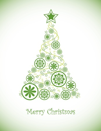 christmas tree set: Christmas Background  Vector Illustration  Illustration