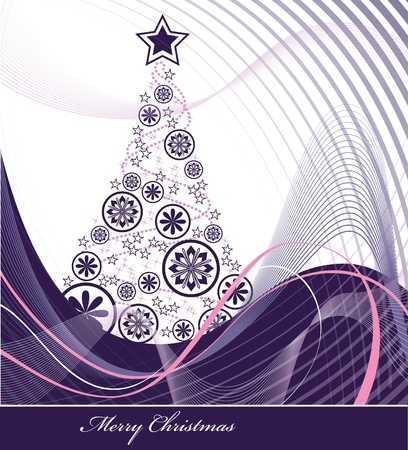 purple stars: Christmas Background