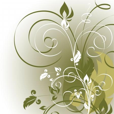 olive green: Floral Background