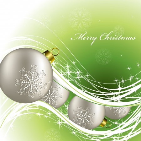 green background: Christmas Background    Illustration