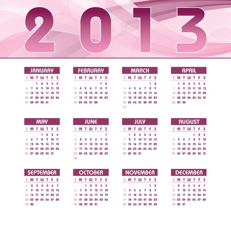 2013 Calendar  向量圖像