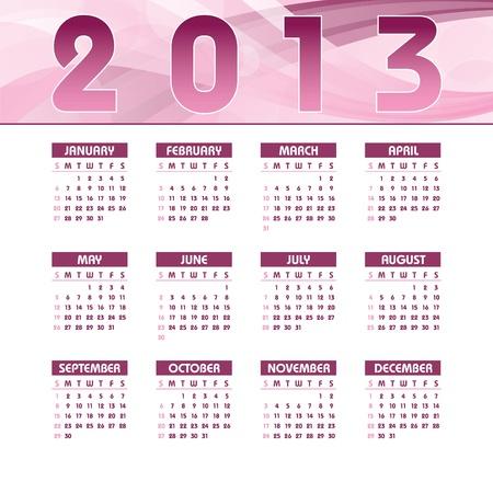 2013 Calendar  Stock Vector - 15563752