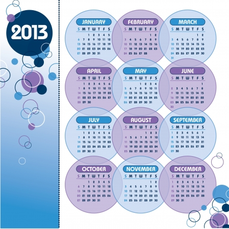 thursday: 2013 Calendar  Illustration