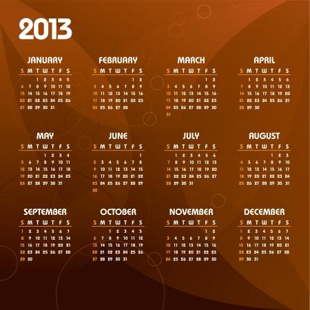 2013 Calendar Stock Vector - 15563753