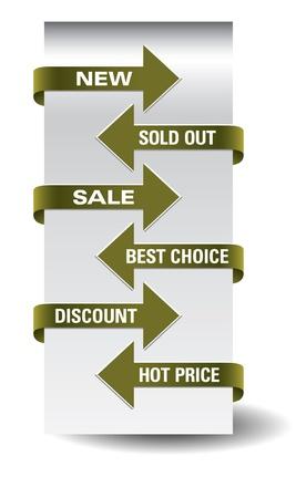 Set of arrow sale stickers  Stock Vector - 15563748