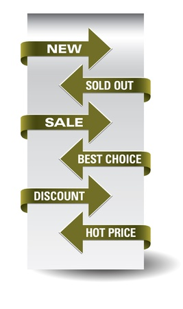 paper tags: Set of arrow sale stickers  Illustration