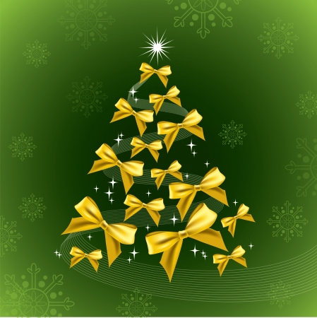 Christmas Tree  Eps10  Vector