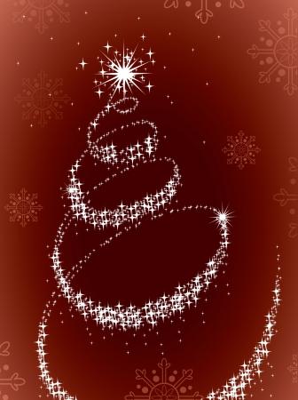 holiday celebrations: Christmas Tree Illustration