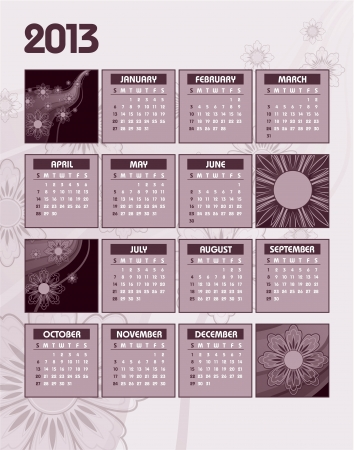 2013 Calendar   Illustration Stock Vector - 16052605