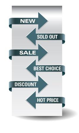 Set of   arrow sale stickers