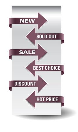 Set of  arrow sale stickers Stock Vector - 16052506