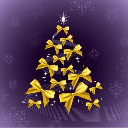 purple ribbon: Christmas Background   Illustration