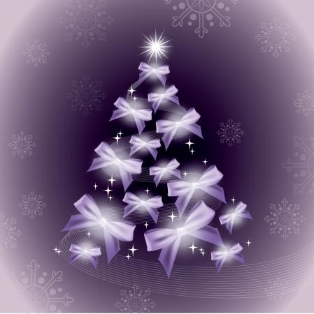 christmas tree purple: Christmas Background   Illustration