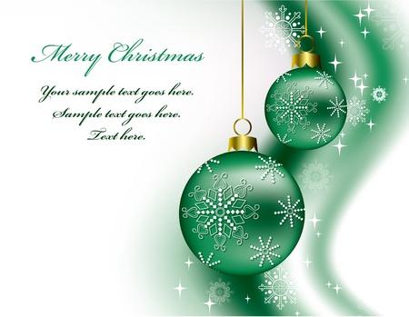 Christmas Background  Illustration  Vettoriali