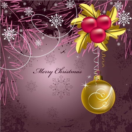 christmas decorations with white background: Christmas Background