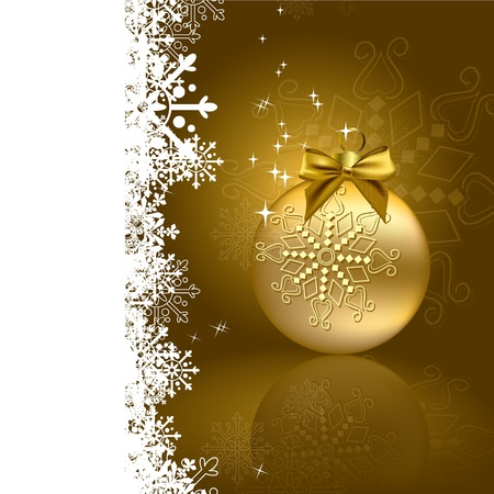 silver ribbon: Christmas Background Illustration  Illustration