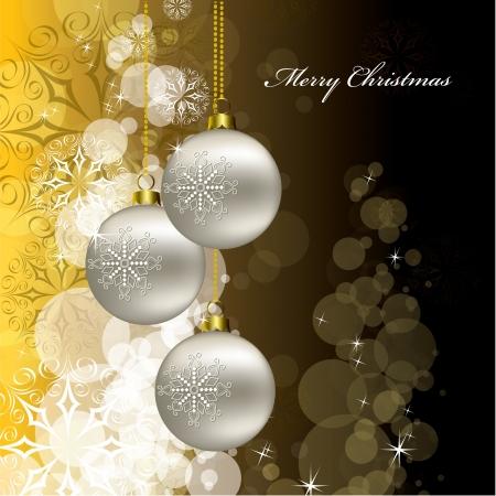 silver ribbon: Christmas Background illustration