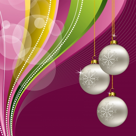 christmas postcard: Christmas Background  Vector Illustration  eps10
