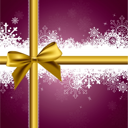 ribbons and bows: Christmas Background  Vector Illustration  eps10