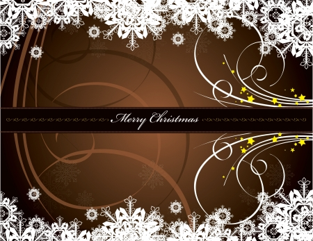 brown swirl: Christmas Background