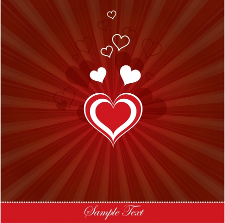 Valentines Day Background  Vector Illustration