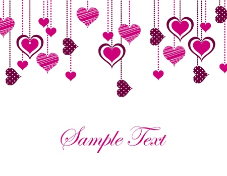 st  valentines day: Valentines Day Background  Vector Illustration