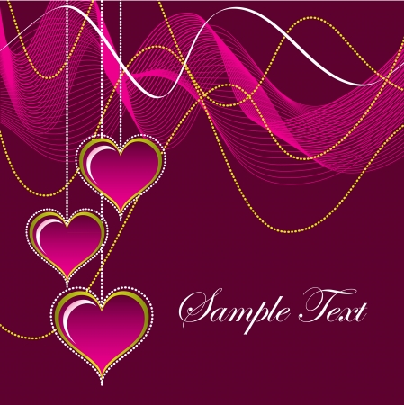 Valentines Day Background  Vector Illustration  Stock Vector - 17303410