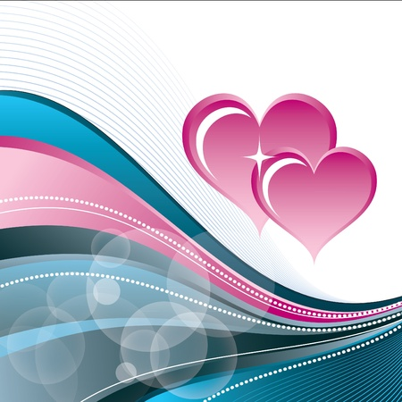 Valentines Day Background  Vector Illustration Stock Vector - 17303487