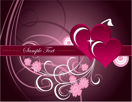 Valentines Day Background  Vector Illustration  Stock Vector - 17303409