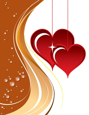 Valentines Day Background  Vector Illustration  Stock Vector - 17303403