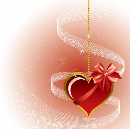 romantic: Valentines Day Background  Vector Illustration