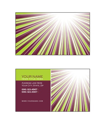 Business Card Template Stock Vector - 17324972