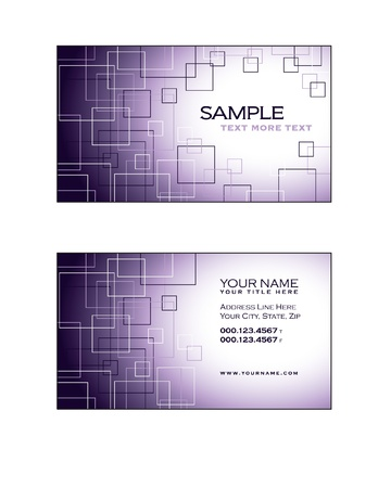 Business Card Template   Stock Vector - 17323627