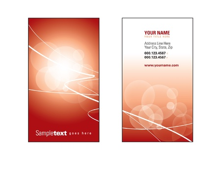 Business Card Template Stock Vector - 17323809