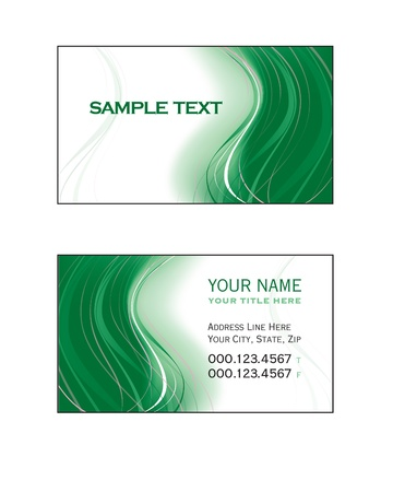 business event: Business Card Template Illustration