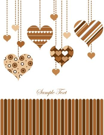 バレンタインの日背景イラスト  イラスト・ベクター素材