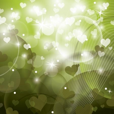 olive green: Valentines Day Background   Illustration
