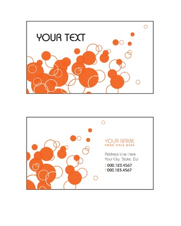 Business Card Template  Vector Eps10