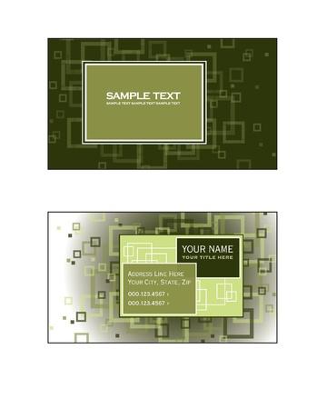Business Card Template  Vector Eps10 Stock Vector - 17358724