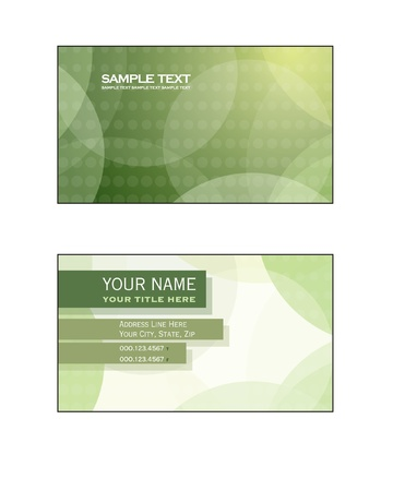 Business Card Template  Vector Eps10 Stock Vector - 17358819