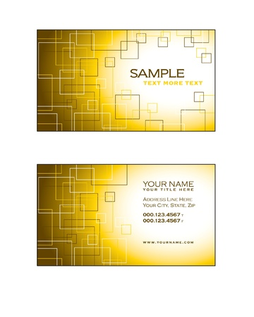 Business Card Template  Eps10  Stock Vector - 17548917