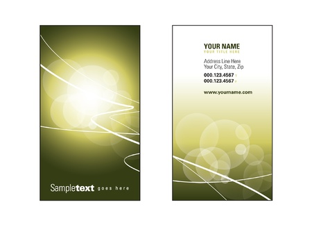 Business Card Template  Eps10  Stock Vector - 17548939