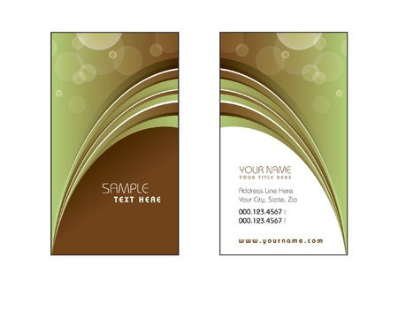 Business Card Template  Eps10 Stock Vector - 17548925